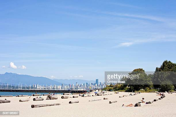 jericho beach - vancouver - english bay stock photos and pictures