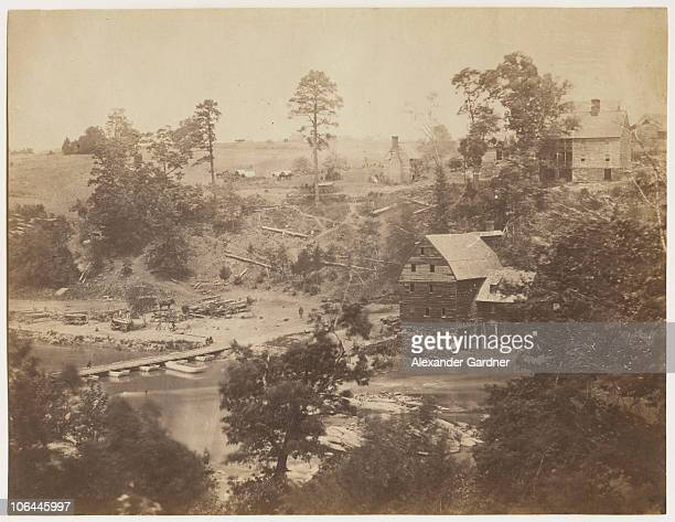 Jericho Mills on the North Anna River Virginia during the American Civil War May 1864 From 'Gardner's Photographic Sketch Book of the Civil War' by...