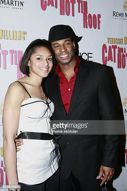 Jericka Duncan and Robert Riley attend Broadway Premiere of Cat On A Hot Tin Roof at Broadhurst Theater on March 6 2008 in New York City