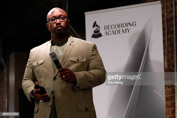 Jeriel Johnson Executive Director The Recording Academy DC Chapter speaks at the Vocal Health Clinic hosted by The Recording Academy WDC Chapter and...