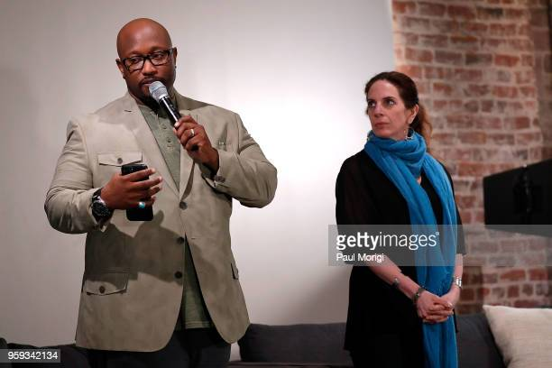 Jeriel Johnson Executive Director The Recording Academy DC Chapter and Jennifer Leff LCSW Senior Director MusiCares speak at the Vocal Health Clinic...