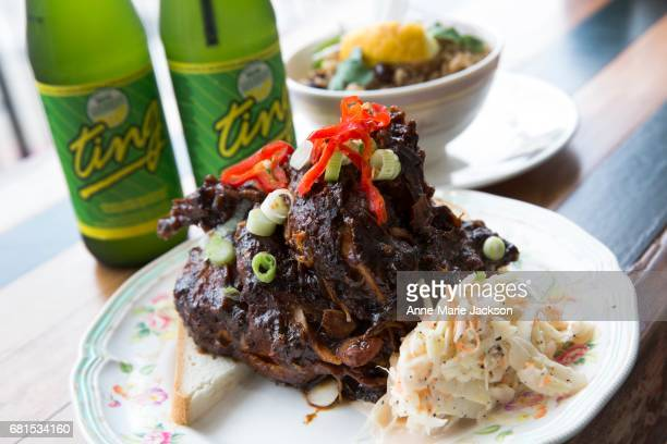 TORONTO ON APRIL 26 Jerk chicken is served up at AF1 Caribbean Canteen on College Street a new eatery focused on authentic Jamaican cuisine