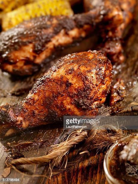 Jerk Chicken with Corn