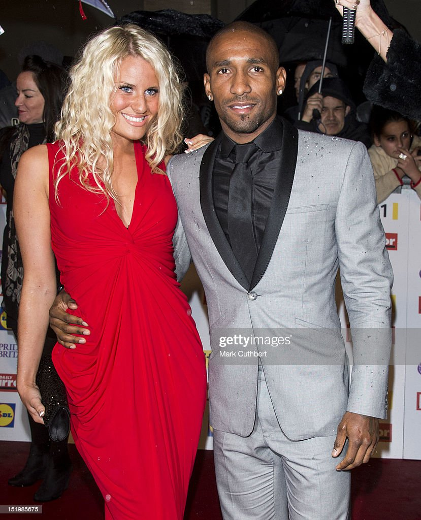 Jermain Defoe and guest attend the Pride Of Britain awards at Grosvenor House, on October 29, 2012 in London, England.