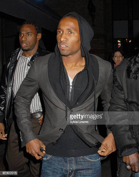 Jermain Defoe attends the Dead Man Running after party held at Alto Club on October 22 2009 in London England