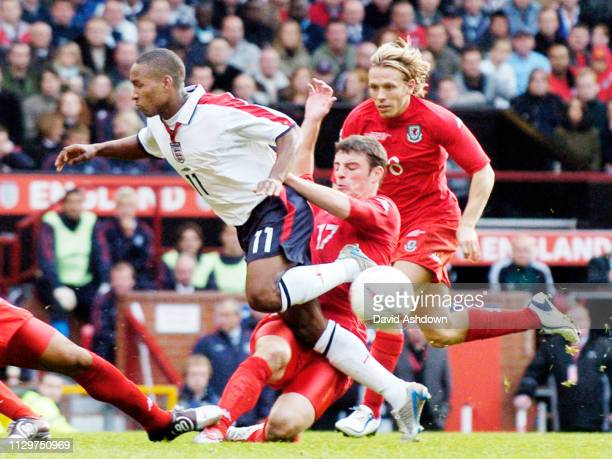Jermain Defoe during England v Wales at Old Trafford FIFA World Cup Europe qualifier 9th October 2004