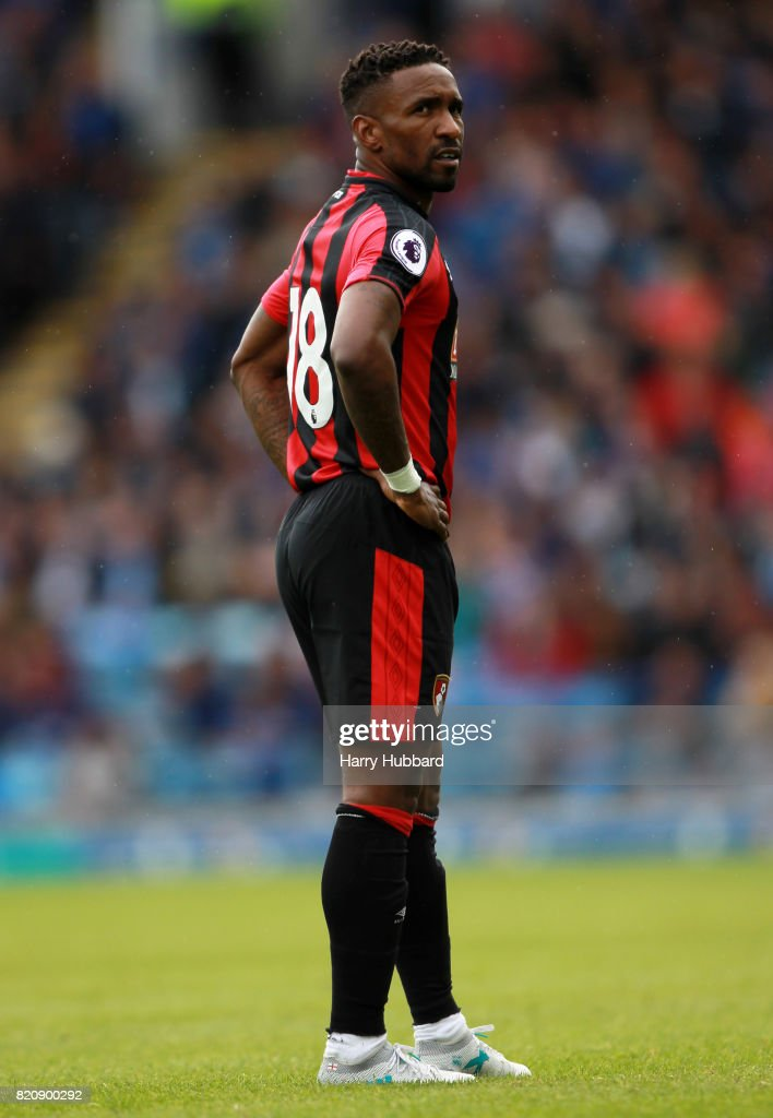 Jermain Defoe of AFC Bournemouth during a pre-season friendly match between Portsmouth and AFC Bournemouth at Fratton Park on July 22, 2017 in Portsmouth, England.