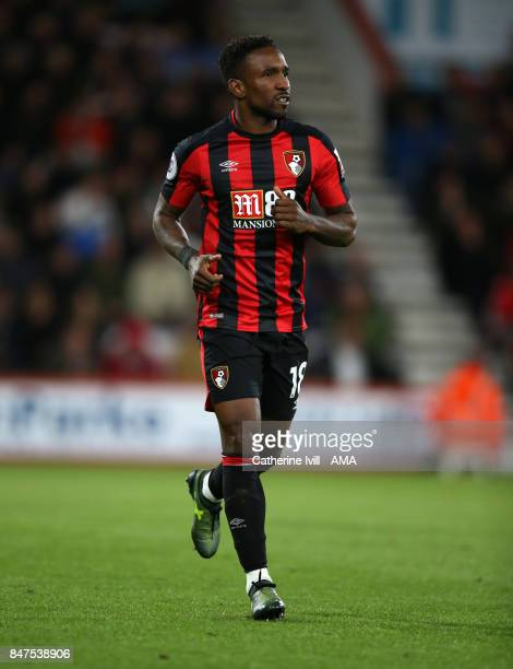 Jermain Defoe of AFC Bournemouth during the Premier League match between AFC Bournemouth and Brighton and Hove Albion at Vitality Stadium on...
