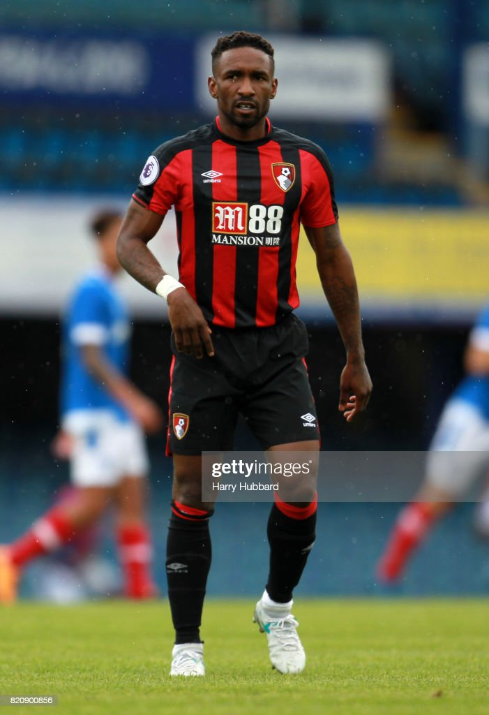 Jermain Defoe of AFC Bournemouth in action during a pre-season friendly match between Portsmouth and AFC Bournemouth at Fratton Park on July 22, 2017 in Portsmouth, England.