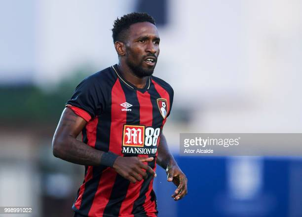Jermain Defoe of AFC Bournemouth reacts during Pre Season friendly Match between Sevilla FC and AFC Bournemouth at La Manga Club on July 14 2018 in...