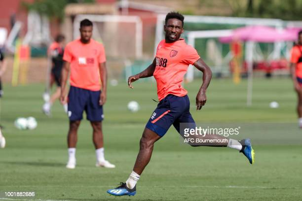 Jermain Defoe of Bournemouth during preseason training on July 19 2018 in La Manga Spain