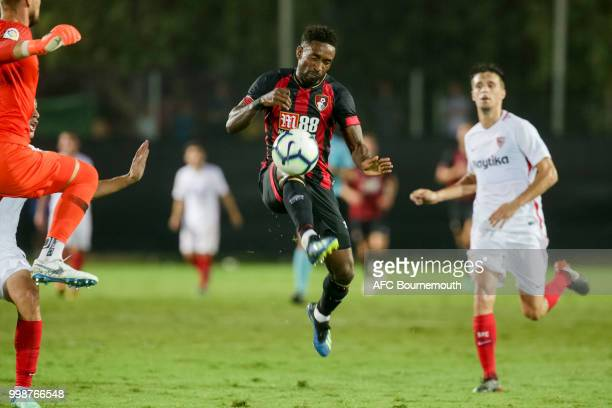 Jermain Defoe of Bournemouth during the preseason friendly between AFC Bournemouth and Sevilla at La Manga Club Football Centre on July 14 2018 in...