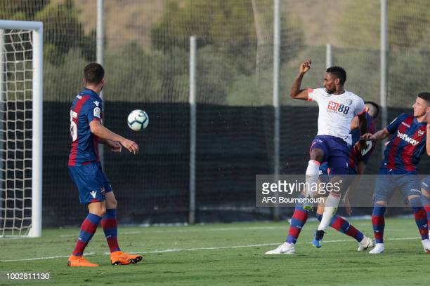 Jermain Defoe of Bournemouth makes it 20 during the preseason friendly between AFC Bournemouth and Levante at the La Manga Club Football Centre on...