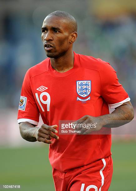 Jermain Defoe of England during the 2010 FIFA World Cup South Africa Round of Sixteen match between Germany and England at Free State Stadium on June...