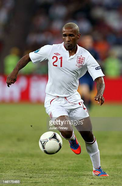 Jermain Defoe of England in action during the UEFA EURO 2012 group D match between France and England at Donbass Arena on June 11, 2012 in Donetsk,...