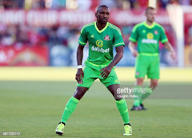 Jermain Defoe of Sunderland AFC in action during a friendly match against Toronto FC at BMO Field on July 22 2015 in Toronto Ontario Canada