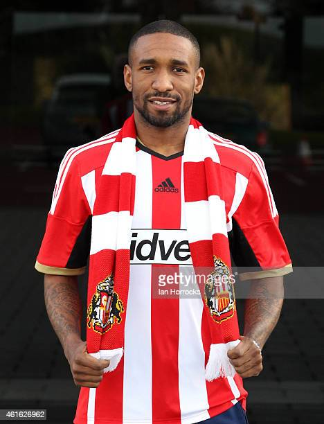Jermain Defoe pictured at the Academy of Light after signing for Sunderland AFC on January 15 2015 in Sunderland England