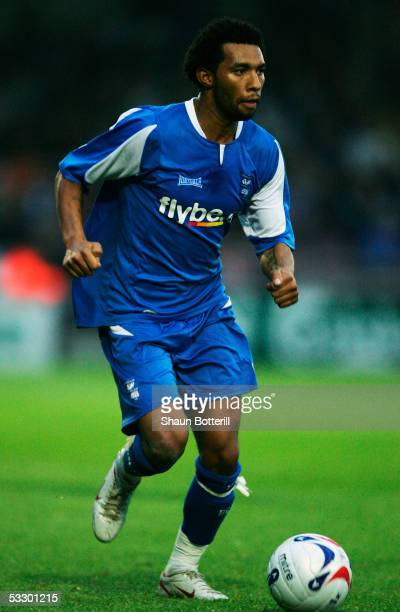 Jermain Pennant of Birmingham City in action during the PreSeason Friendly match between Northampton Town and Birmingham City at Sixfields on July 27...