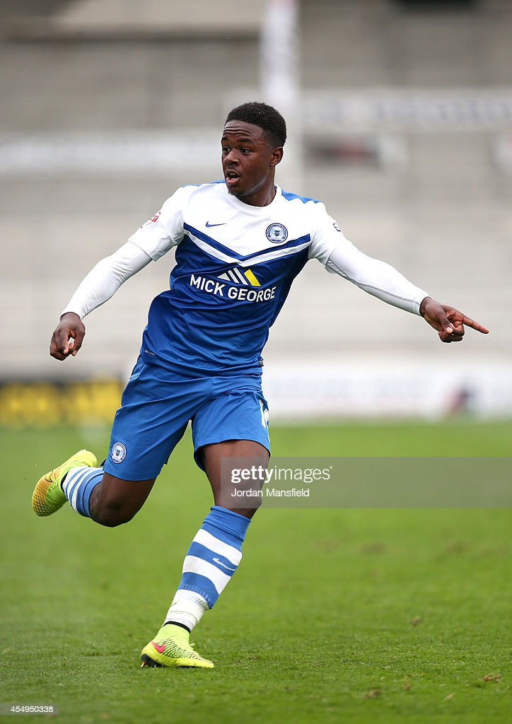 Jermaine Anderson of Peterborough in action during the Sky Bet League One match between Peterborough United and Port Vale at London Road Stadium on September 6, 2014 in Peterborough, England.