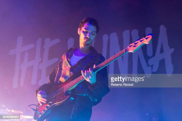 Jermaine Angin of The Hunna performs on stage at O2 Academy Glasgow on January 9 2018 in Glasgow Scotland