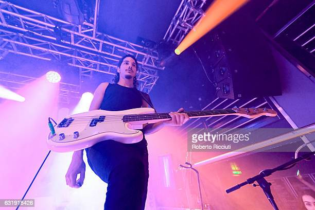 Jermaine Angin of The Hunna performs on stage at The Liquid Room on January 17 2017 in Edinburgh Scotland
