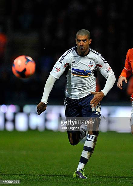 Jermaine Beckford of Bolton Wanderers during the FA CupThird Round match between Bolton Wanderers and Blackpool at the Reebok Stadium on January 4...