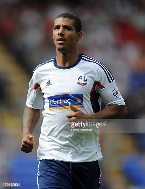 Jermaine Beckford of Bolton Wanderers looks on during the Sky Bet Championship match between Bolton Wanderers and Reading at Reebok Stadium on August...