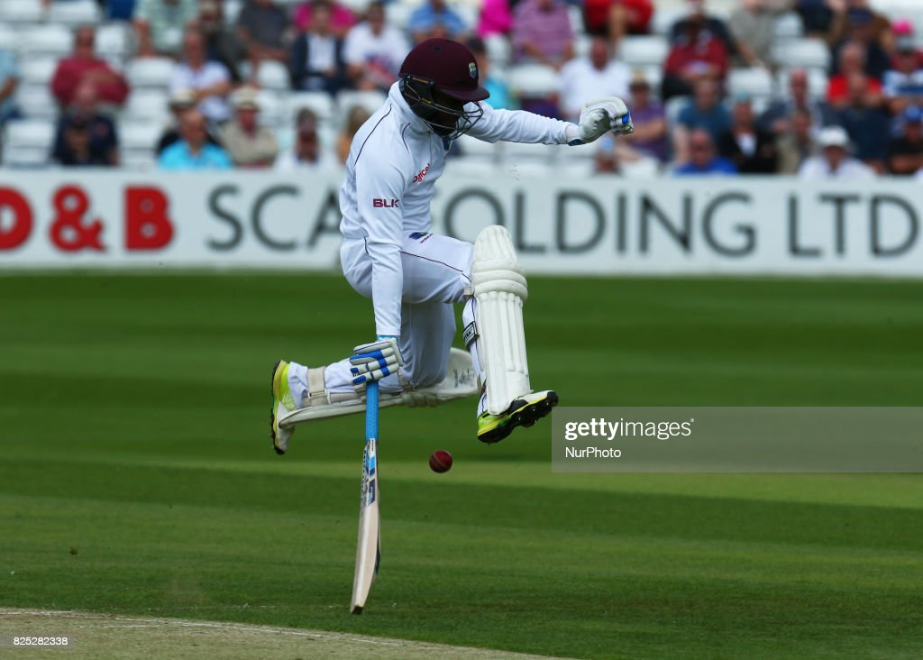 Jermaine Blackwood of West Indies during the Domestic First Class Multi - Day match between Essex and West Indies at the Cloudfm County Ground on August 01, 2017 in Chelmsford, England.