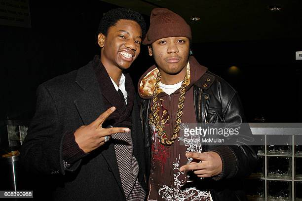 Jermaine Crawford and Julito McCullum attend HBO FILMS' Screening of LIFE SUPPORT with Queen Latifah at Chelsea West Theaters on March 5 2007 in New...