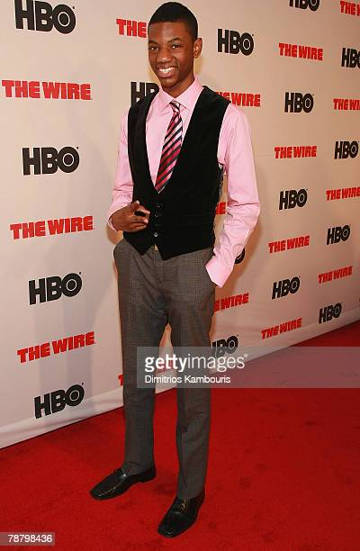 Jermaine Crawford arrives at the The Wire Season 5 Premiere at the Chelsea West Theater on January 4 2008 in New York City