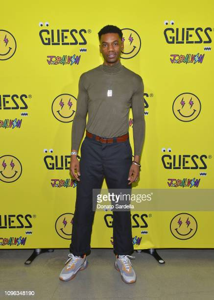 Jermaine Crawford attends GUESS x J Balvin launch party on February 8 2019 in Los Angeles California