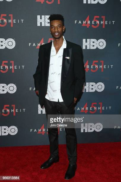 Jermaine Crawford attends the New York premiere of Farenheit 451 at NYU Skirball Center on May 8 2018 in New York New York