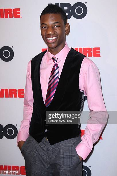 Jermaine Crawford attends The New York Premiere of the Fifth and Final Season of HBO's THE WIRE at Chelsea West Cinema on January 4 2008 in New York...