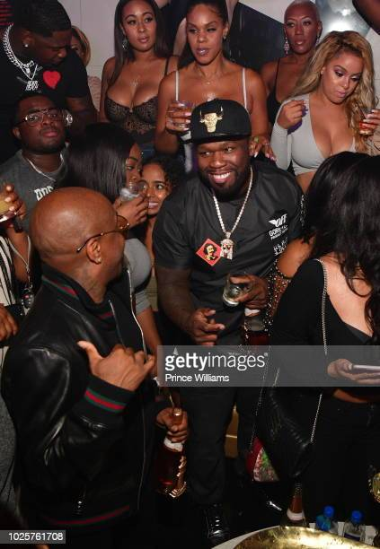Jermaine Dupri and 50 Cent attend a Party at Gold Room on September 1 2018 in Atlanta Georgia