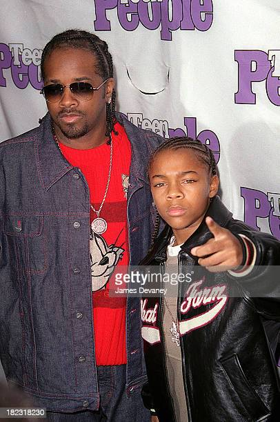 Jermaine Dupri and Bow Wow during Teen People Magazine's What's New In Teen Talent Event at The Apollo Theater in New York NY United States