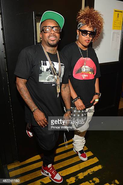 Jermaine Dupri and da Brat Backstage at The Fox Theatre on July 25 2015 in Atlanta Georgia