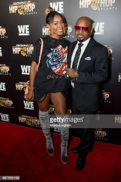 Jermaine Dupri and daughter Shaniah Mauldin attend the 'Growing Up Hip Hop Atlanta' premiere at Woodruff Arts Center on May 23 2017 in Atlanta Georgia