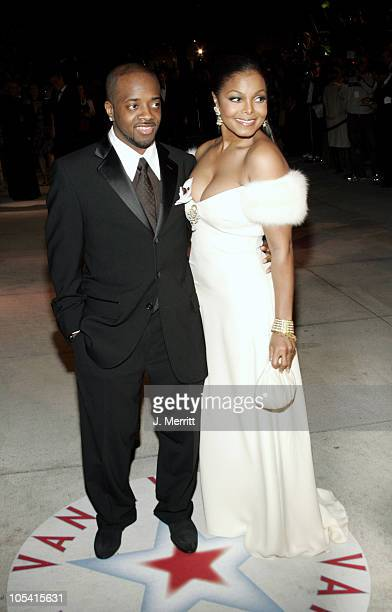 Jermaine Dupri and Janet Jackson during 2005 Vanity Fair Oscar Party at Mortons in Los Angeles California United States