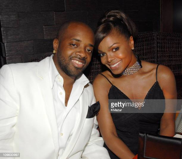Jermaine Dupri and Janet Jackson during Antonio 'LA' Reid's 50th Birthday Party Inside at Nobu 57th Street in New York New York United States