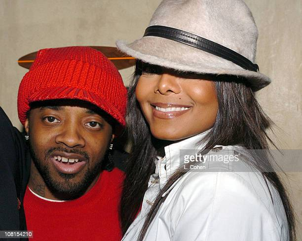 Jermaine Dupri and Janet Jackson during Clive Davis Hosts A Celebration of The American Music Awards at The Esquire House Inside at Esquire House in...