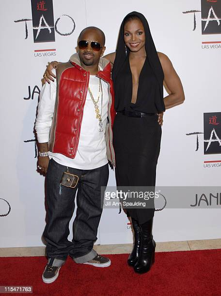 Jermaine Dupri and Janet Jackson during TAO Las Vegas First Anniversary Weekend Janet Jackson Album Release Party Red Carpet Arrivals at The Venetian...