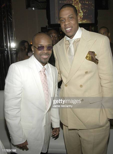 Jermaine Dupri and JayZ during Mariah Carey Celebrates the Release of Her Album The Emancipation of Mimi and its Debut at at Cipriani in New York...