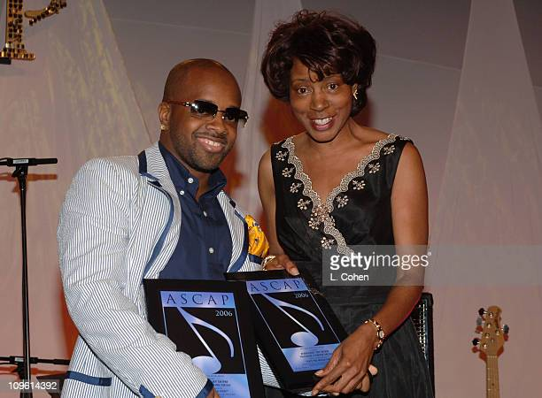 Jermaine Dupri and Jeanie Weems during 19th Annual ASCAP Rhythm Soul Awards Award Show at Beverly Hilton Hotel in Beverly Hills California United...