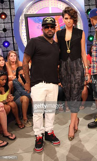 Jermaine Dupri and Leah LaBelle visit BET's 106 Park at BET Studios on June 20 2012 in New York City