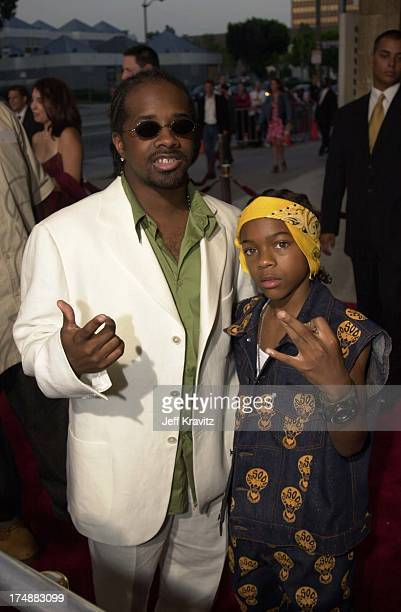 Jermaine Dupri and Lil Bow Wow during Big Mama's House Premiere at Cinerma Dome in Hollywood California United States