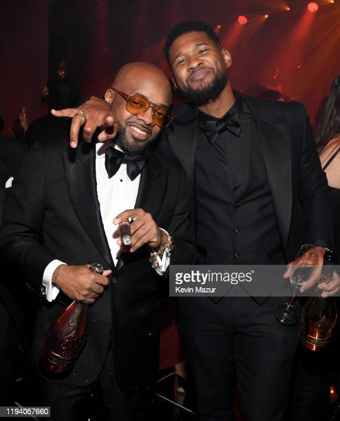 Jermaine Dupri and Usher attend Sean Combs 50th Birthday Bash presented by Ciroc Vodka on December 14 2019 in Los Angeles California