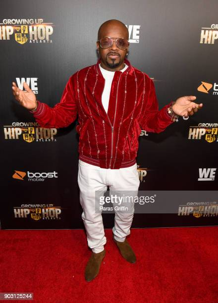 Jermaine Dupri attends 'Growing Up Hip Hop Atlanta' season 2 premiere party at Woodruff Arts Center on January 9 2018 in Atlanta Georgia