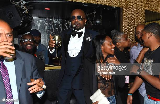 Jermaine Dupri celebrates So So Def 25 and Songwriters Hall of Fame Induction with his daughter Shaniah Mauldin at GoldBar Toasted by Moet Chandon on...