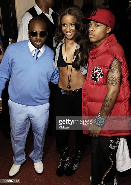 Jermaine Dupri Ciara and Bow Wow during 33rd Annual American Music Awards Backstage at Shrine Auditorium in Los Angeles California United States