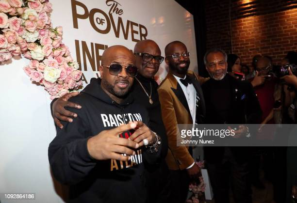 Jermaine Dupri Miguel Wilson and BryanMichael Cox attend the Super Bowl LIII Power Of Influence Awards at Coco Studios on February 1 2019 in Atlanta...